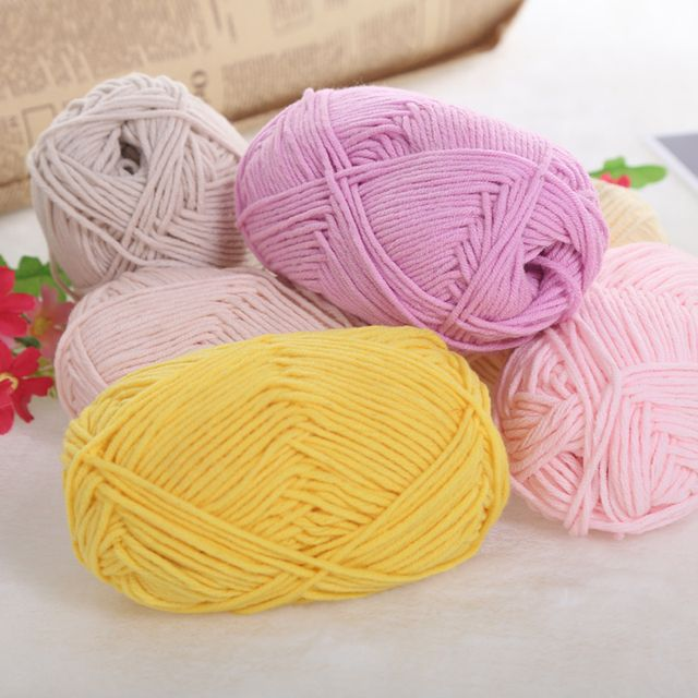 300g/Lot Cotton Wool Crochet Yarn Kint Baby Sofy Scarf Sweater Eco-Friendly Dyed Wool For Hand Knitting Pelote De Laine De Coton
