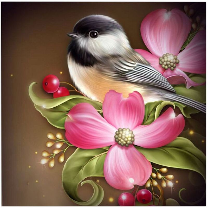 Diamond Embroidery Paintings Rhinestone Pasted diy Diamond painting Free Shipping printed classic Bird and Flower SH163
