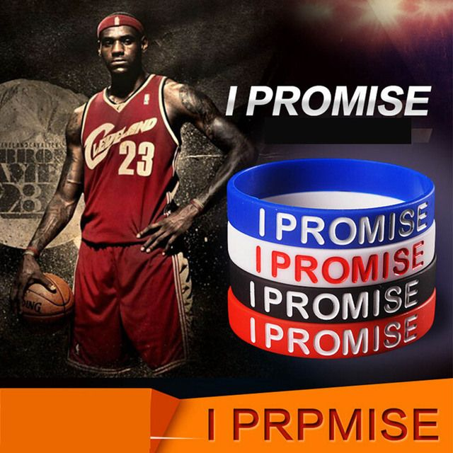 I Show I Promise bracelet Basketball Sports Wristband Silicone Gym Fitness Power Bands Energy Bracelets For Man Women jewelry