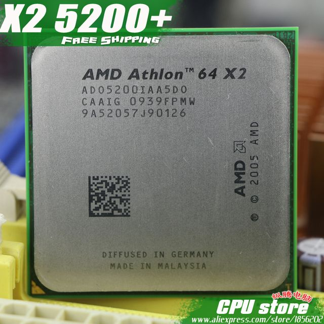 AMD Athlon 64 X2 5200+ CPU Processor (2.7Ghz/ 1M /1000GHz) Socket am2 (working 100% Free Shipping) 940 pin ,sell X2 5400+ 5000+