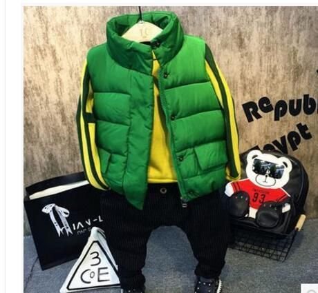 New Family Matching Clothes Autumn Winter Boys Girls Vest Coat Kids Thick Cotton-padded Warm Waistcoat Hooded Vests For Children