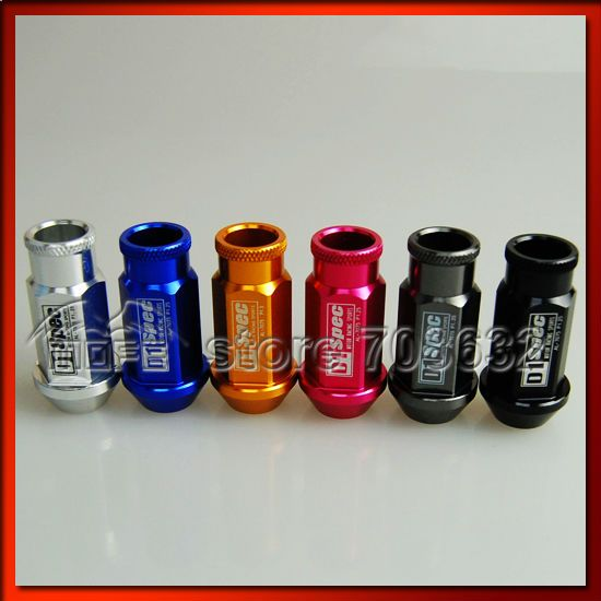 QUALITY GUARANTEE Special Offer 20PCS/SET 50mm Aluminum D1 Spec Racing Car Wheel Nuts P1.25 Red Blue Black Titanium