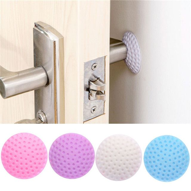 5 Pcs Fenders Rubber Wall Thickening Mute Door Golf Modelling Fender The Handle Door Lock Protective Pad Protection Wall Sticker