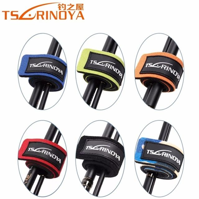 2Pcs/Lot Trulinoya Lure Fishing Rod Wrap Bundle Elastic Rod Belt Fastening Strap Belts Rod Tie Fishing Accessory Rod Holder