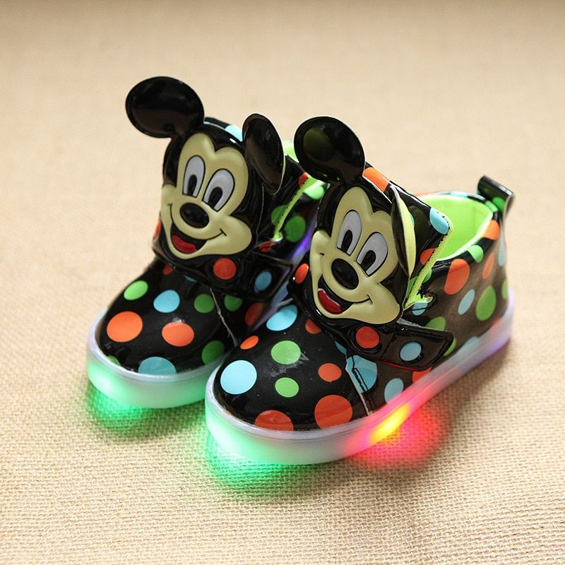 New arrival davidyue luminous shoes  fashion cute LED lighting children shoes  Lovely kids sneakers  cool boys girls boots