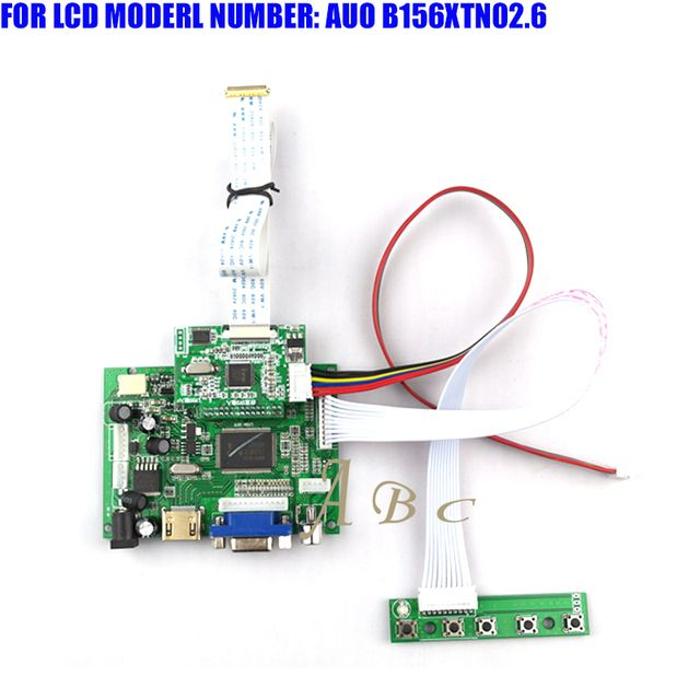 "EDP HDMI VGA 2AV LVDS Controller Board Module Kit for AUO B156XTN02.6 15.6"" 1366X768 30P 1 Lane LED TFT LCD Display Panel"
