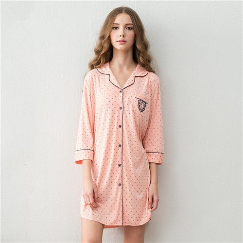 Women Sleepwear 2017 Brand Cotton Sleep Lounge Indoor Clothing Long Nightgowns Sexy Home Dress Vintage Sweet Nightdress