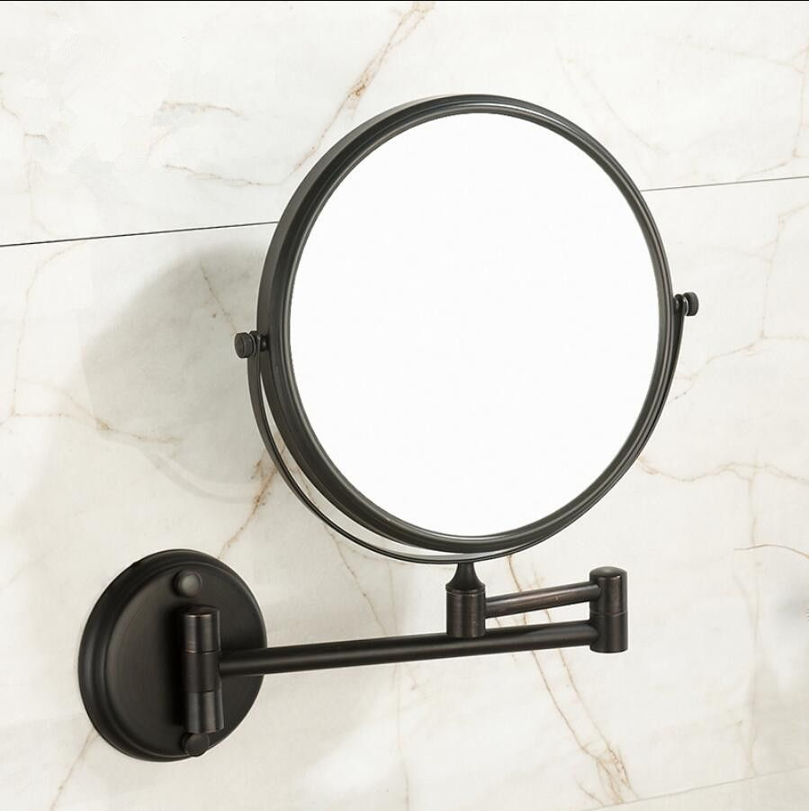 Hot Sale Bathroom oil nickel Wall Mounted 8 inch Brass 3X/1X Magnifying Mirror Folding Makeup Mirror Cosmetic Mirror Lady Gift