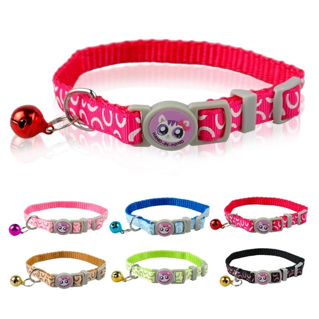 Quick Release Cat Collar Nylon Dog Collar Printing Cat Collars Small Collar for Cat Puppy Small Dog 7-11 inch