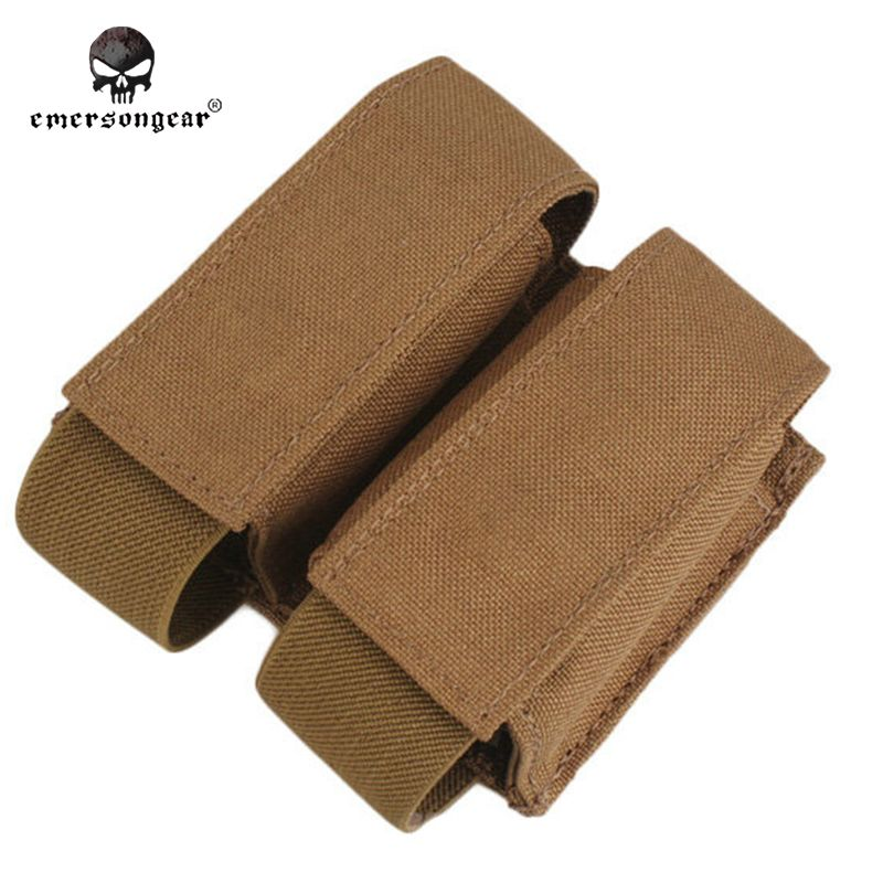 Emersongear LBT Style 40mm Double Pouch Molle Emerson Tactical Military Airsoft Paintball Combat Gear EM6366 Multicam AOR2 nylon