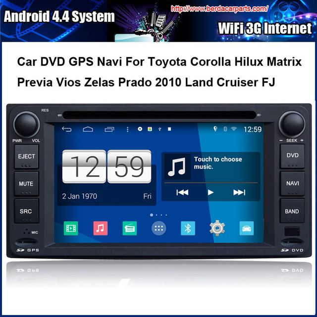 Android Car DVD player FOR Toyota RAV4 COROLLA (2004-2006) Previa VIOS HILUX Prado Terios Land Cruiser With GPS built-in WiFi