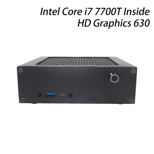 ICELEMON DIY mini computer with Intel i7 7700T, mini HTPC gaming box, pre-installed windows 10 64 bit, DDR4 ram+m.2 NVMe ssd
