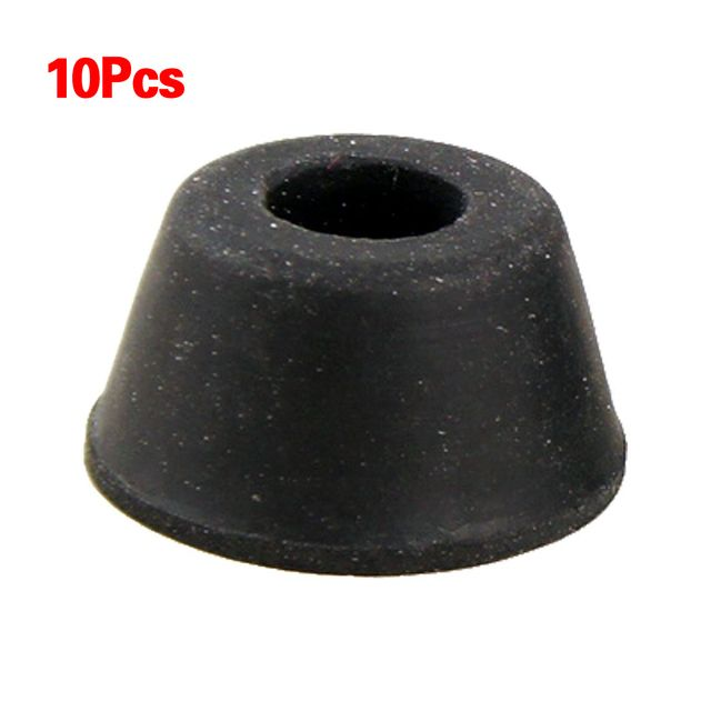 GSFY Wholesale 10Pcs 21mm x 12mm Black Conical Recessed Rubber Feet Bumpers Pads
