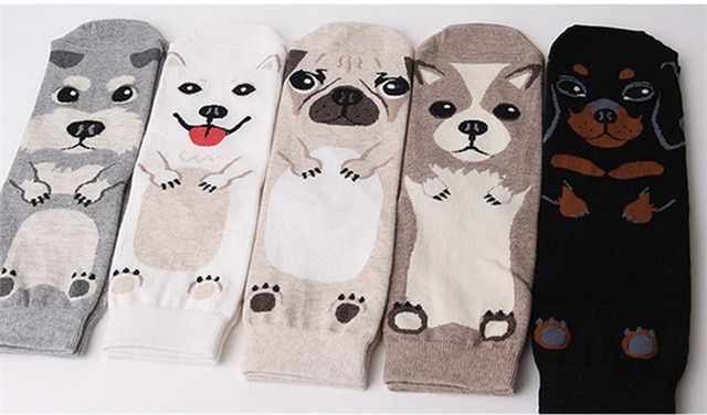 Three-dimensional cartoon dog animal Ms. straight socks wholesale cute in the tube cotton sock free shipping