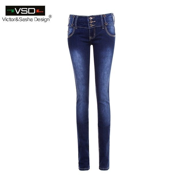 Casual Elastic Denim Jeans Women Vintage Mid Waist Stretch Skinny Pencil Pants Women Blue Color Zipper Slim Jeans Pantalon Femme