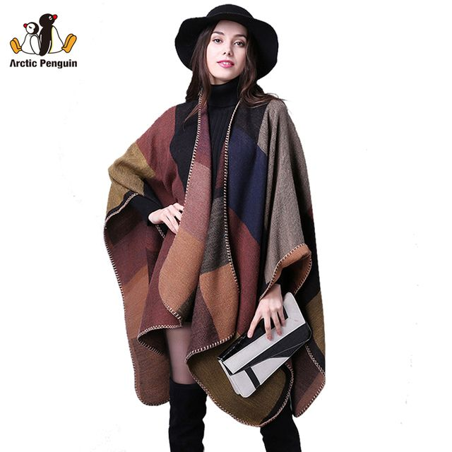 AP 2016 New Brand Women's Winter Scarf Vintage Blanket Best Quality Pashmina Women Knit Shawl Cape Cashmere Scarf Poncho RS1001