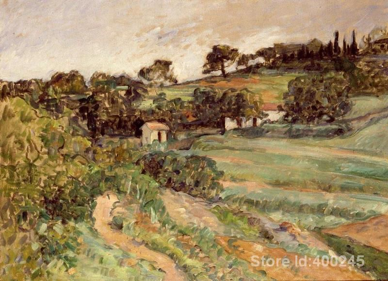 artwork of Paul Cezanne Landscape in Provence by Bathers by Paul Cezanne art reproduction paintings handmade High Quality