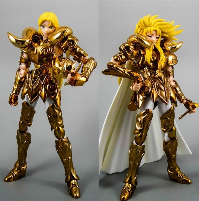 ST S-Temple (MC Metal Club) Saint Seiya Cloth Myth EX Gold OCE Aries with Mu and Shion heads metal Cloth