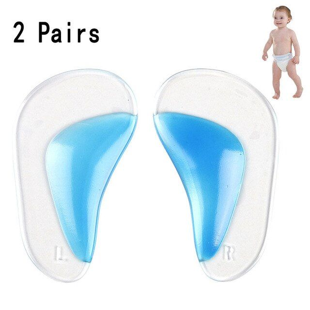 Children 2 Pairs Orthotic Insole Flatfoot Corrector Arch Pain Support Gel Inserts Pads Feet Care Silicone Insoles For Baby Kids