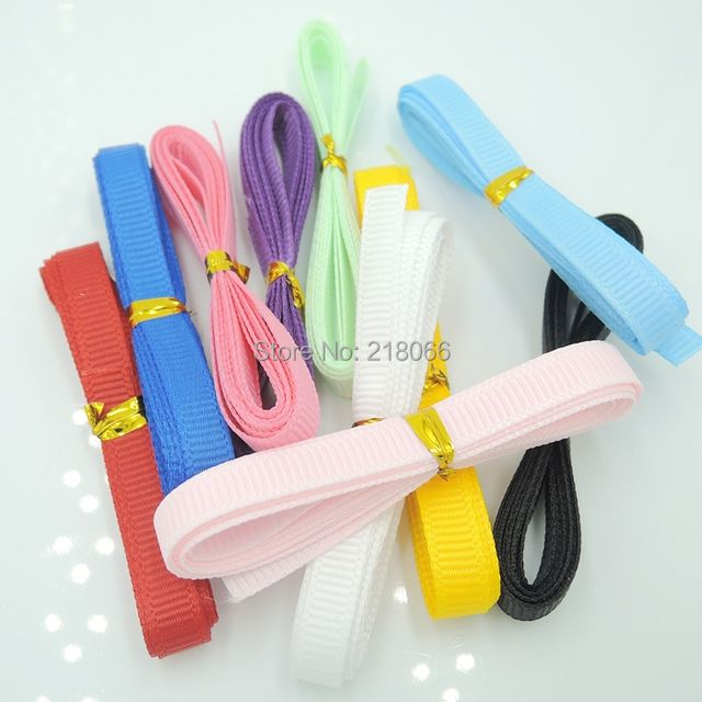 Solid Color Grosgrain Ribbon Packing 10yards mix color bow celebration decoration DIY Materials Tape