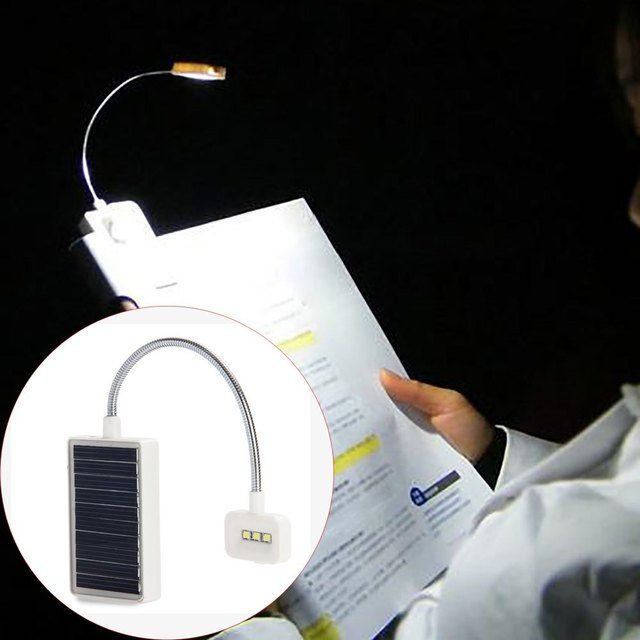 Modern Multi-use LED Solar Book Light LED Lamp With USB Interfaces For Reading Clip On Book Quality Garanted