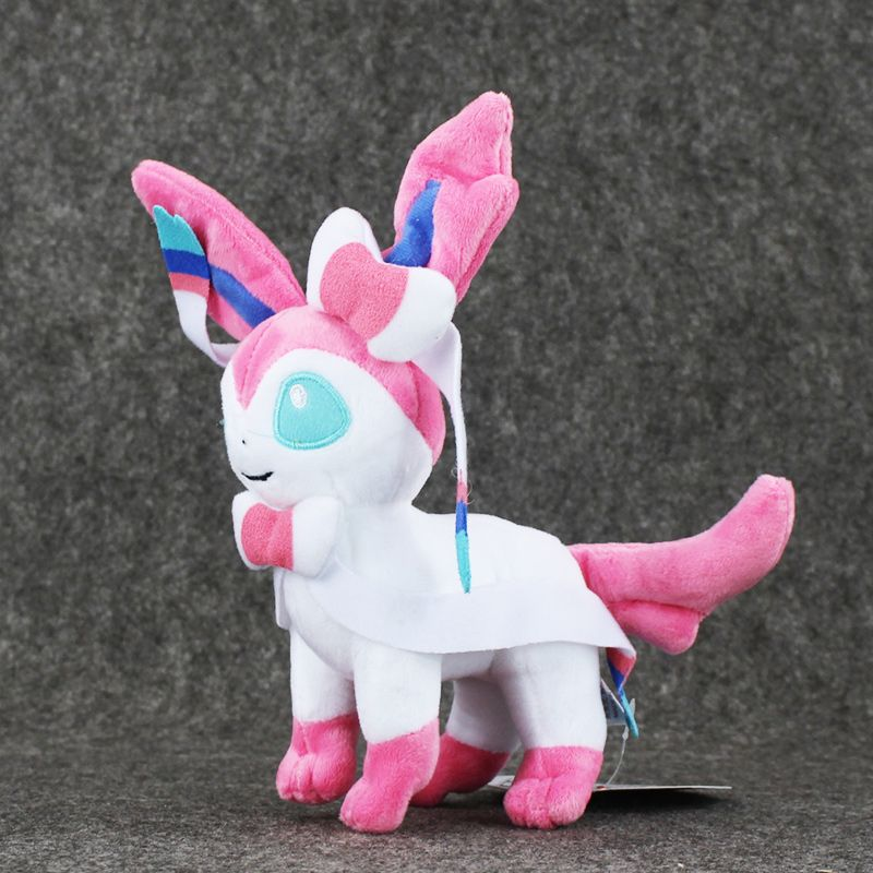 "Hot Anime 9"" 23cm Eevee Sylveon Plush Soft Toy Stuffed Doll Great Gift Kids Brinquedos"