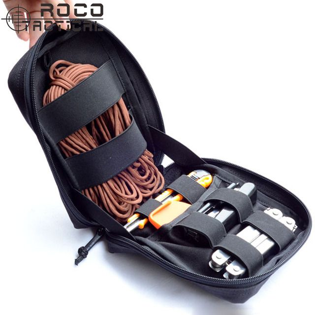 Military MOLLE Medic Bag EMT Military Hunting Bag Pouch Survival First Aid Trauma Kit Made of Double Layer Cordura 1000D Nylon