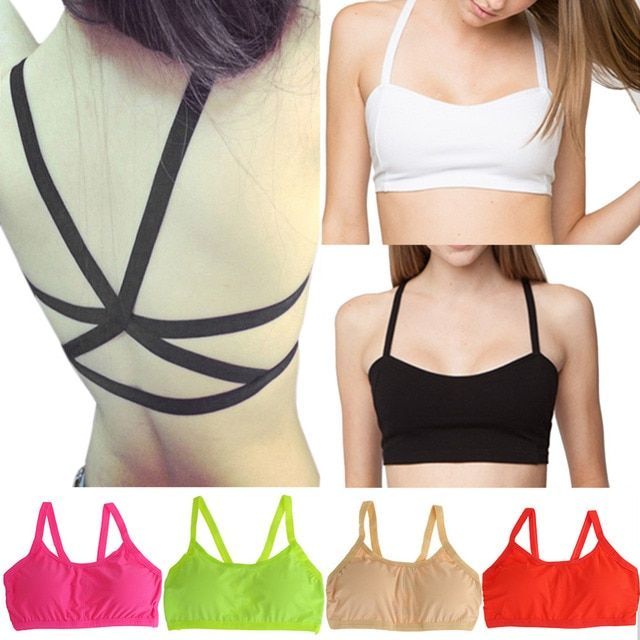 2017 Summer Female Strapless Bustier Short Crop Tops Women Sexy Padded Bra  Halter Top Camis Bustier Cropped Feminino C1