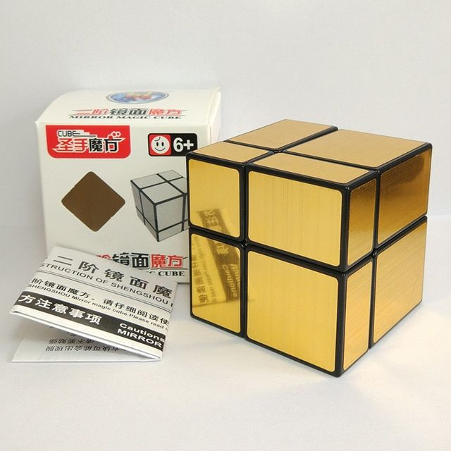 Newest ShengShou 2X2 Mirror Magic Cube Puzzle Twisty Puzzle Educational Toys Cubo Magico