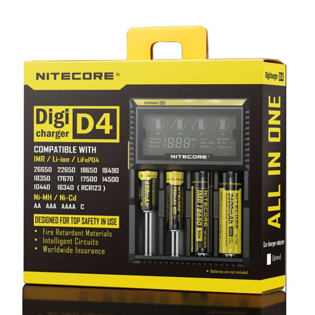 Free shipping Nitecore D4 LCD Intelligent Circuitry 18650 battery Charger