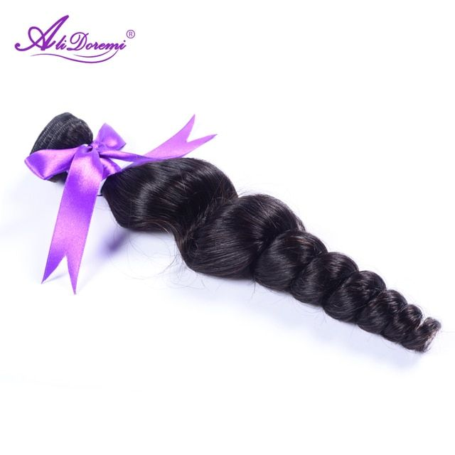 Alidoremi Peruvian Loose Wave 100% Human Hair Bundles Natural Color Non-Remy Hair Free Shipping