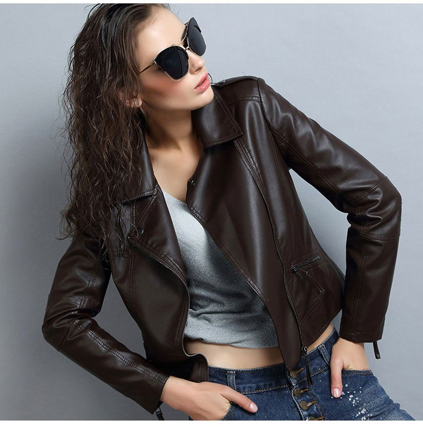 Leather Jacket Women Chaqueta Cuero Mujer Veste En Cuir Femme Cazadoras Ledermantel Lederjacke Lether Jackets Leather Coats