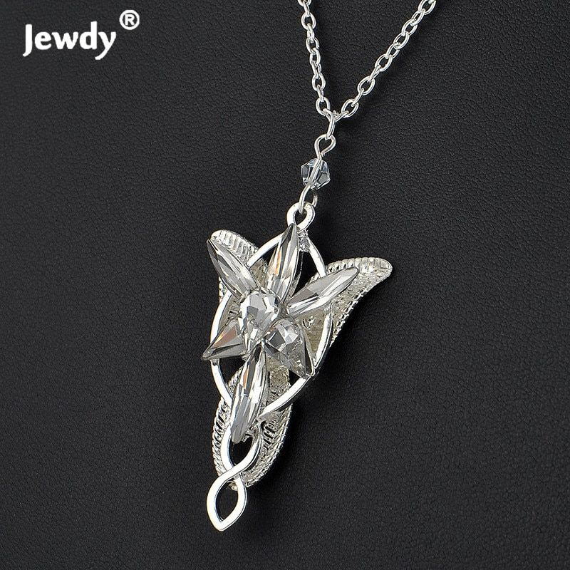 Arwen Evenstar Pendant necklaces for women arwen crystal chokers necklace Hobbit movies silver plated fashion jewelry