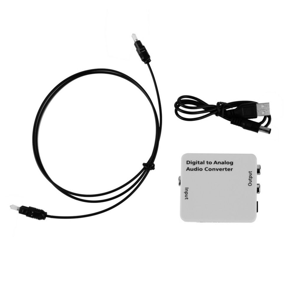 Digital Optical Toslink Coax to Analog R/L/RCA Audio Signal Converter Adapter Wholesale