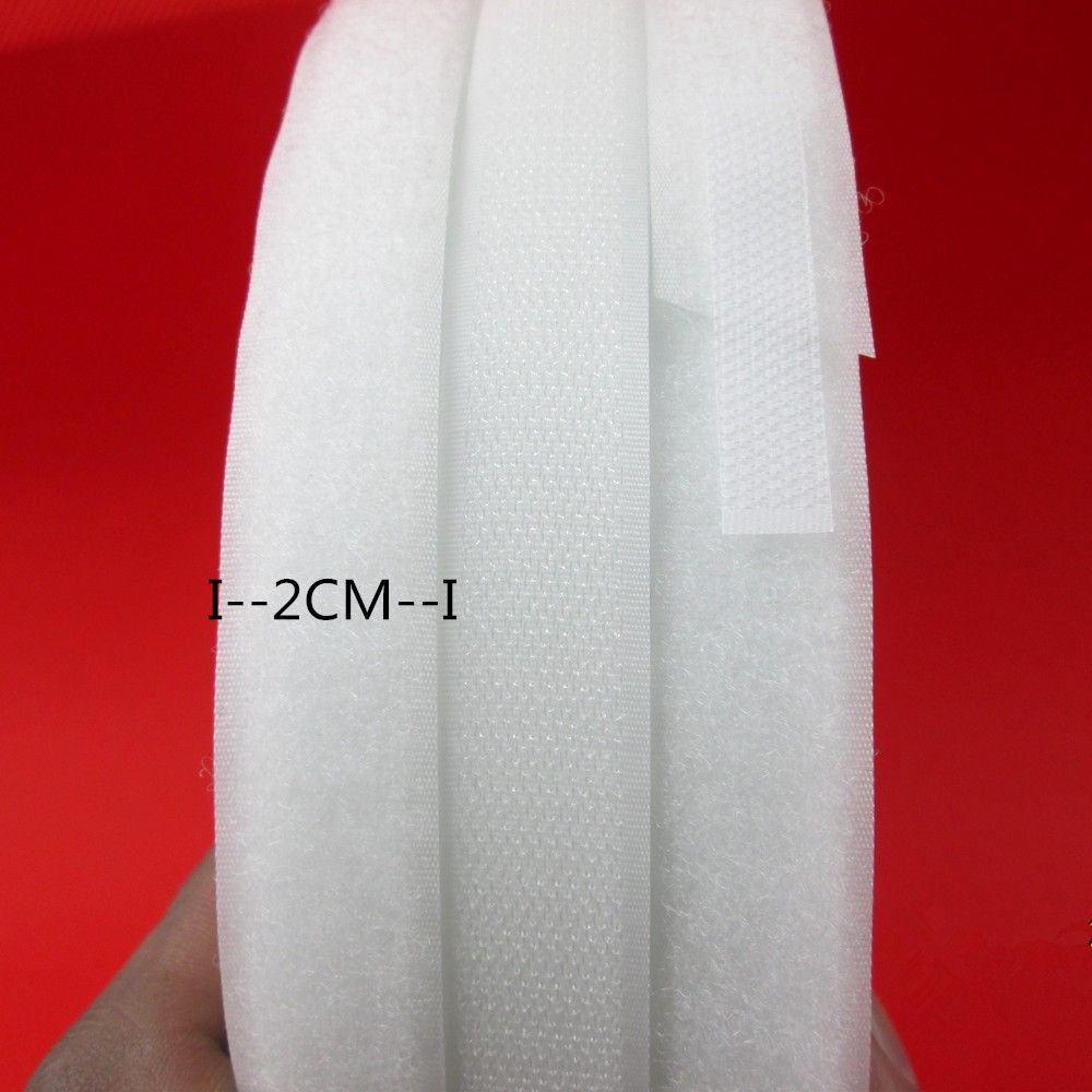 XUNZHE 2cm*2M/5M/10M 25M/pair No Glue White Hand Sewing  Nylon Sticking Tape DIY Sewing hook loop Dress Accessories