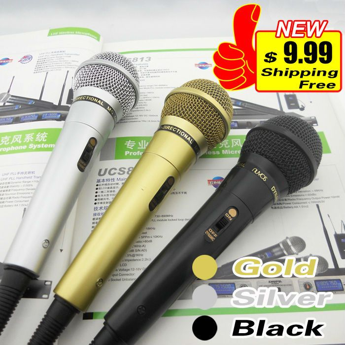 5-Year Warranty Free Shipping Quality Dynamic Microphone Mic Mike For KTV Karaoke PA Power Amplifier System With 3-Meter Cable