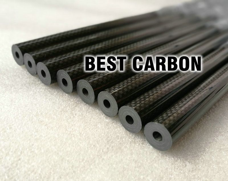 16mm x 5.5mm x 1000mm High Quality 3K Carbon Fiber Plain Fabric Wound/Winded/Woven Tube Carbon Tail Boom