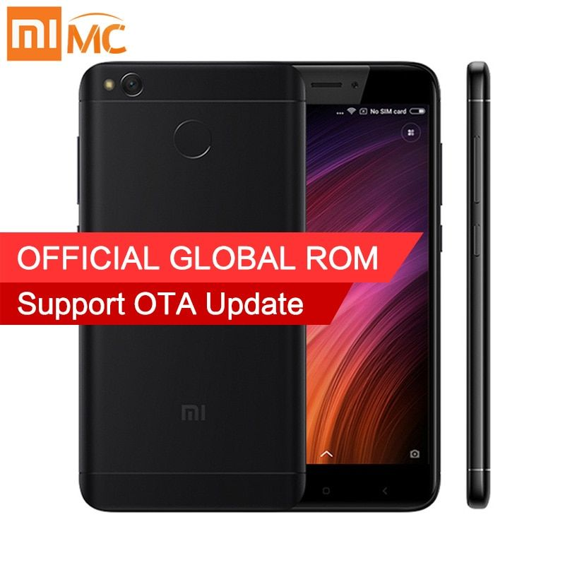 "Original Xiaomi Redmi 4X 2GB 16GB Smartphone Snapdragon 435 Octa Core 5.0"" HD Display 13MP Camera MIUI 9 Fingerprint  FDD LTE"