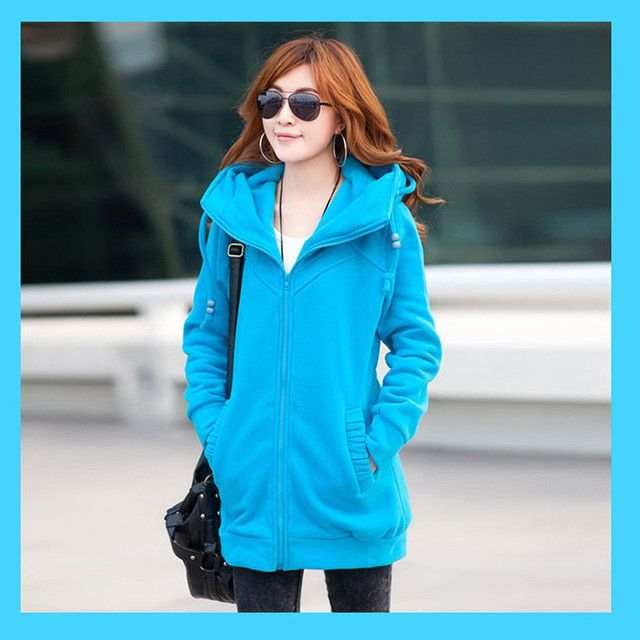 4XL Large size women's zip up Hoodies, Sweatshirts fashion solid color spring autumn hoodies outerwear sweatshirts femme,TT965