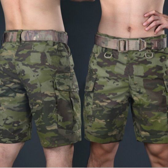Military Tactical Shorts Camouflage Cargo Short Trousers Hunter Clothes Survival Gear