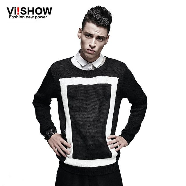 VIISHOW Famouse Brand Clothing men's sweaters geometric stylish casual men's sweaters wool pullover men
