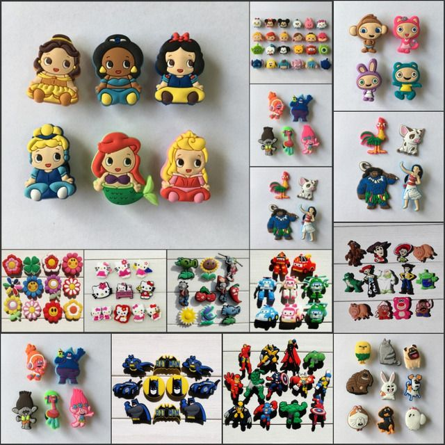 Novelty Hot Super Mario Avengers Princess PVC Shoe Charms,Cartoon Shoe Buckles Accessories Fit Bracelets Croc,Kids Gifts