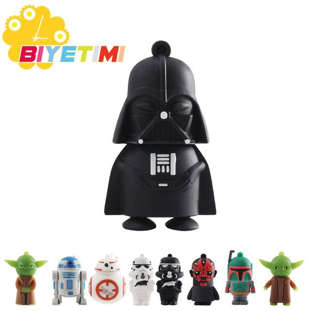 2016 New Arrival 3500 Real Capacity Star wars 8GB 16GB 32GB Pen Drive Pendrive USB Flash Drive For PC