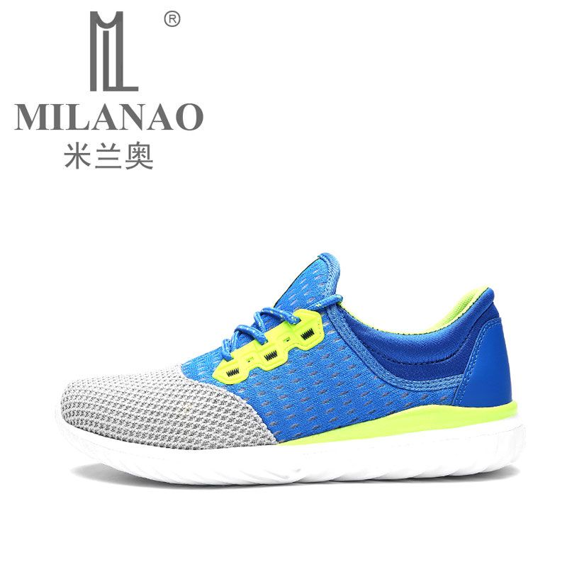 MILANAO Sport Running Shoes Mens  Sneakers 2016 Summer Breathable Men Shoes Walking Mesh Sneakers Training Shoes for Man