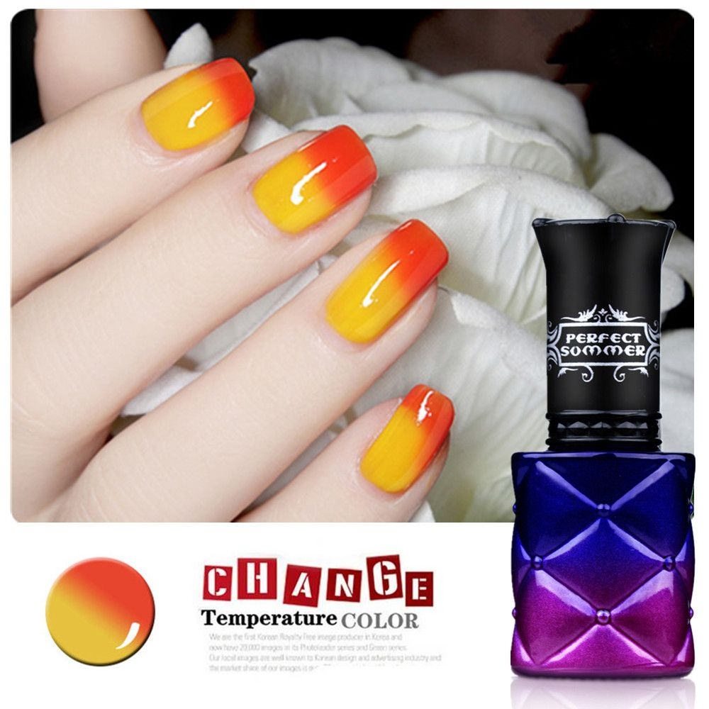 Temperature Color Change Nail Gel Perfect Summer Chameleon Gel Nail Polish UV LED Soak off Gel lacquer Color Changing Gel Polish