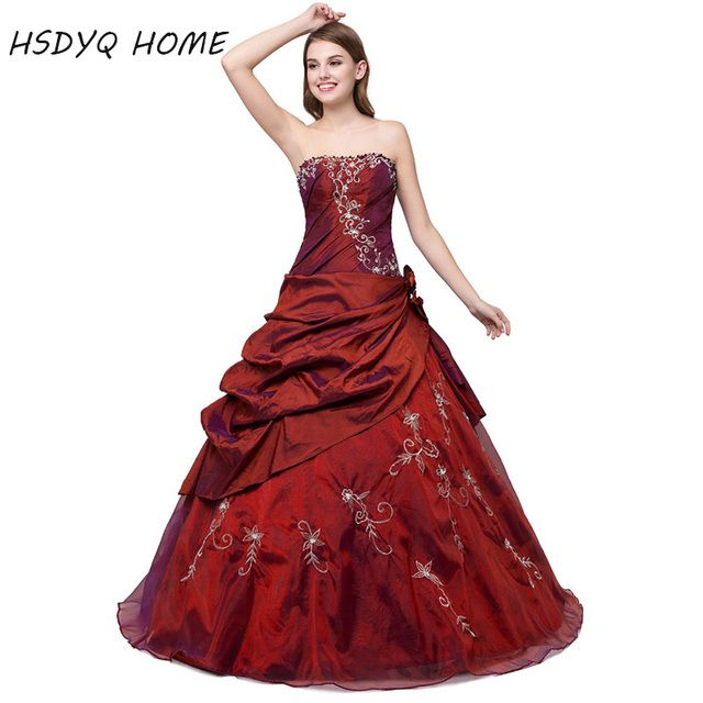 Cheap Quinceanera Dresses 2016 Ball Gown party dress Appliques Pleated Taffeta Tulle Lace-up Back sweet 15 Hot sale Long dress
