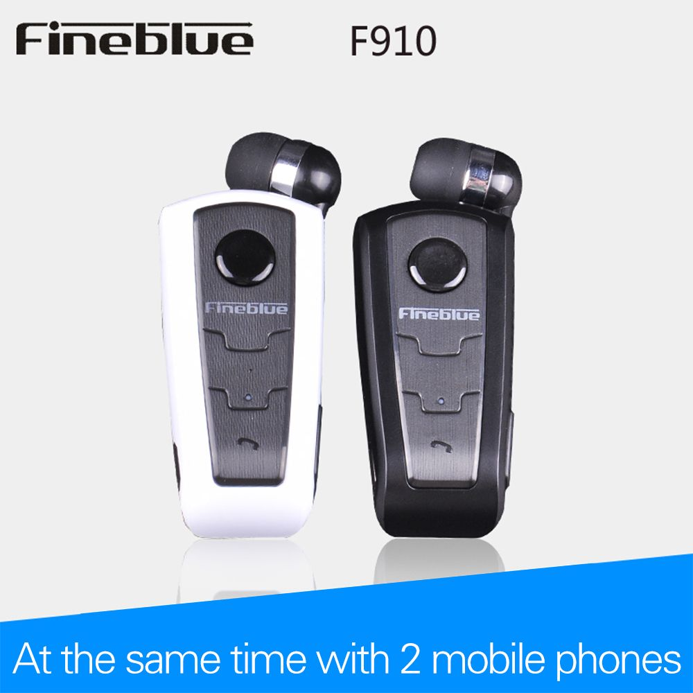 Wireless Bluetooth Earphone FineBlue F910 Calls Remind Vibration Headset With Collar Clip For bluetooth Phone Handfree Call