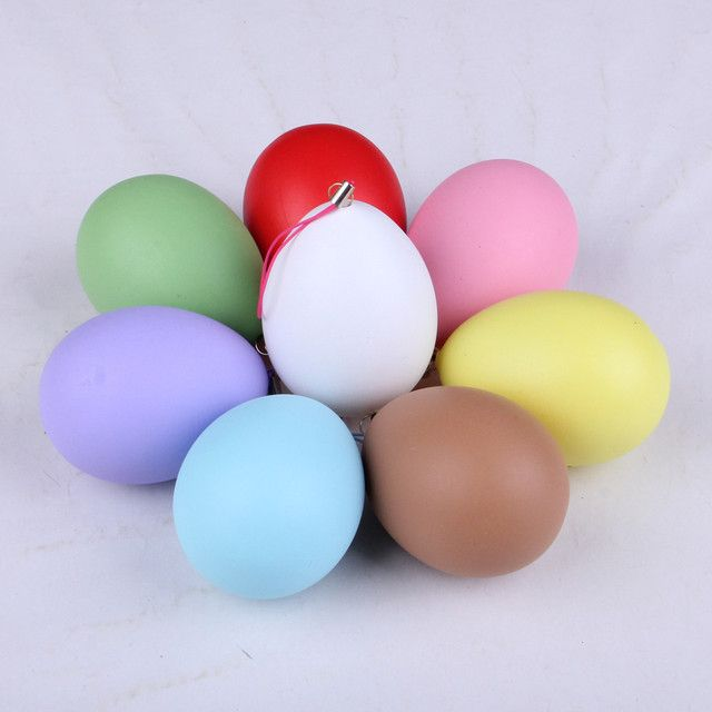 10 pcs Easter gift simulation of egg shell  raw material for children creative DIY painting  pure colour decorative ornaments