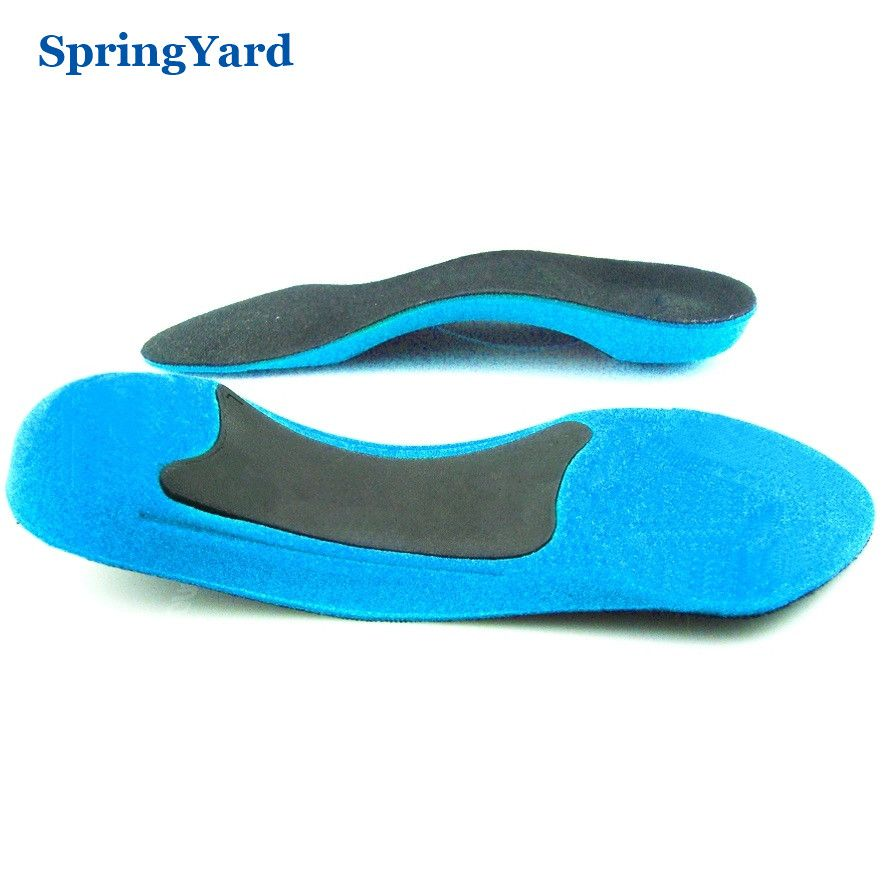 SpringYard TPR+Form 3/4 Length Arch Support Shock Absorption Cushion Insoles Feet Care for Shoes Women Men