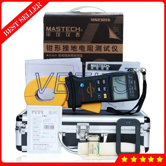 Mastech MS2301S Digital Clamp Ground Resistance Tester
